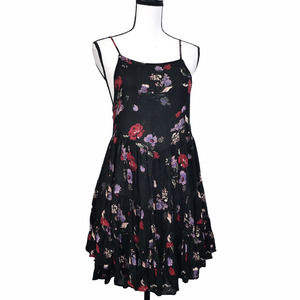 Intimately Free People Floral Lace Up Mini Dress